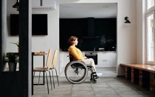 woman sitting in wheelchair
